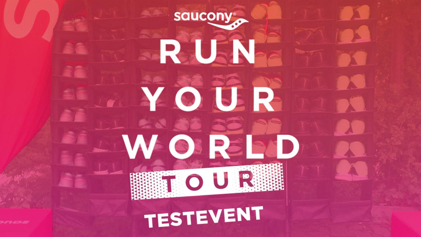 Testschuhaktion mit Saucony am 12. April